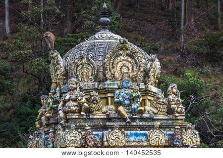 highly detailed image of Seetha Amman Hindu temple Sri Lanka