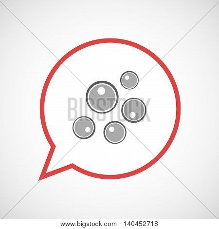 Isolated Comic Balloon Line Art Icon With Oocytes