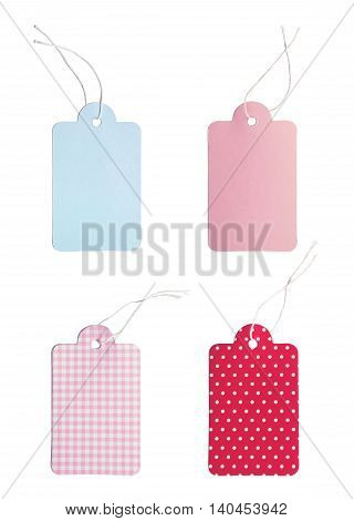 Gift or Price tags, isolated on White