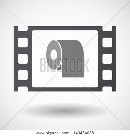 Isolated 35Mm Film Frame With A Toilet Paper Roll