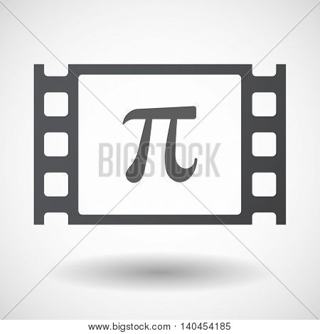 Isolated 35Mm Film Frame With The Number Pi Symbol