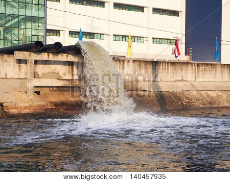Drainage of industrial plants. Drainage for factory site.