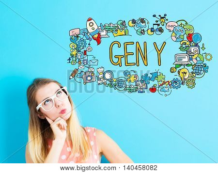 Gen Y Concept With Young Woman