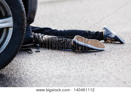 Teenage Boy Car Accident Fatality On Wet Pavement