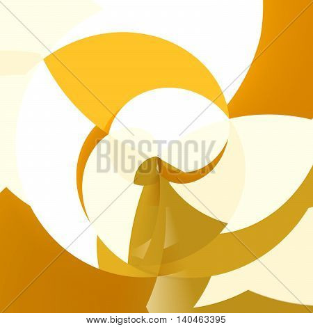 Abstract Bright Orange Moving Shells Design Background
