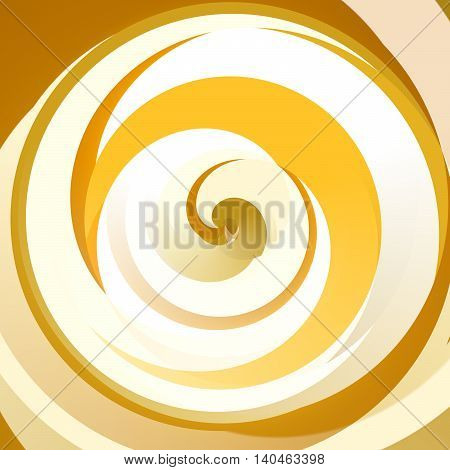 Abstract Bright Orange Moving Circles Design Background