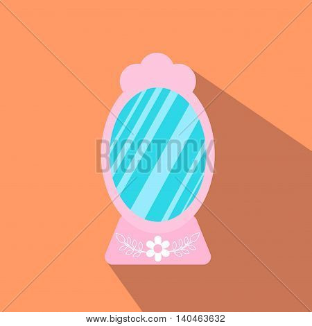 Mirror From Beauty Salon Vector Illustration.