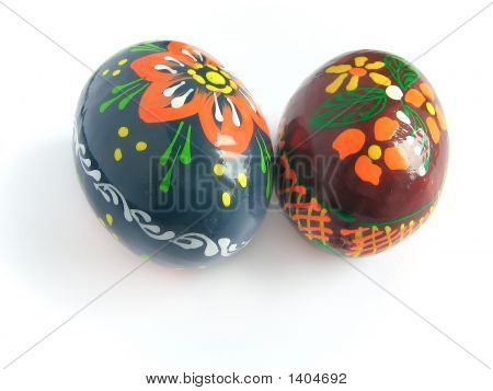 Two Easter Painted Egg