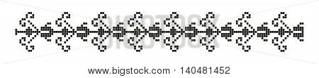 romanian traditional ethnic costume motif genuine pattern