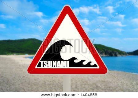Tsunami Warning Sign