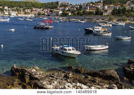 Boats On Hvar Island, Croatia