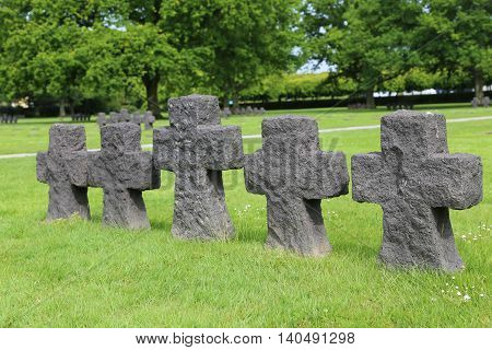 A military cemetery on the Atlantic coast of France