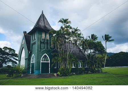 Scenic View Of Wai`oli Hui`ia Mission Church, Kauai