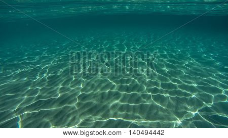 Underwater photo of sand shot in Croatia