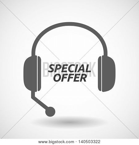 Isolated  Headset Icon With    The Text Special Offer