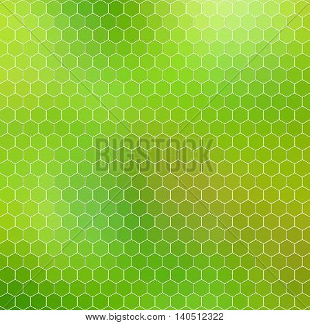 honeycomb background mosaic - abstract geometric hexagon grid shades of green