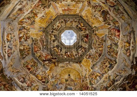Dome Paintings Cathedral Florence