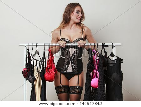 Sensual Girl On Sexy Shopping.