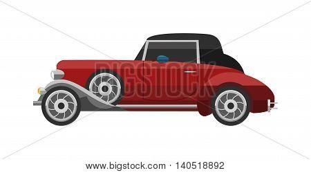 Retro car icon vintage vector. Classic transportation auto vehicle retro car. Retro car nostalgia automobile old design. Graphic emblem race engine machine shop antique wheels collection