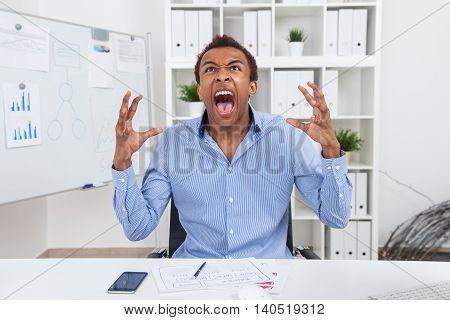 Black Man Shouting
