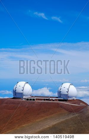 Astronomical Observatories On Mauna Kea, Hawaii