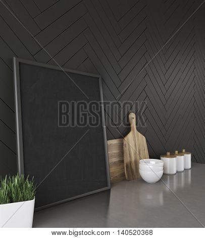 Kitchen Worktop In Modern House