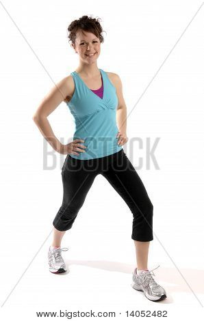 Young Woman Exercises