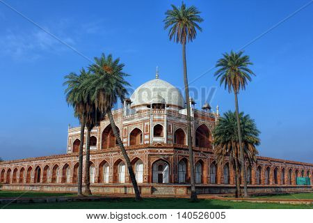 Humayun's tomb is the tomb of the Mughal Emperor Humayun in Delhi, India. The tomb was commissioned by Humayun's son Akbar in 1569-70, and designed by Mirak Mirza Ghiyas