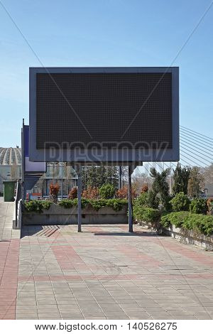 Empty Black LED Digital Billboard Screen for Advertising