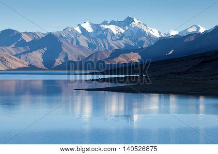 Himalayan lake Moriri Tso Ladakh Jammu and Kashmir India.