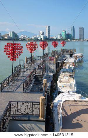 DA NANG, VIETNAM - JANUARY 06, 2016: Pier