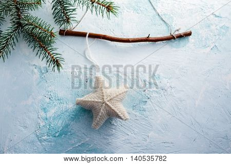 Christmas star hanging decoration