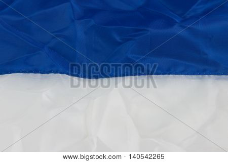 Disastrously of blue white fabric texture for background.