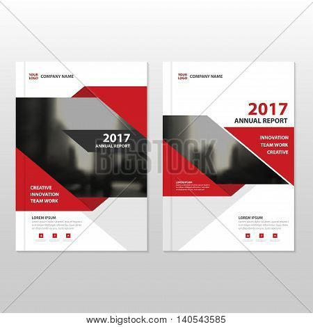 Red Vector annual report Leaflet Brochure Flyer template design book cover layout design abstract business presentation template a4 size design