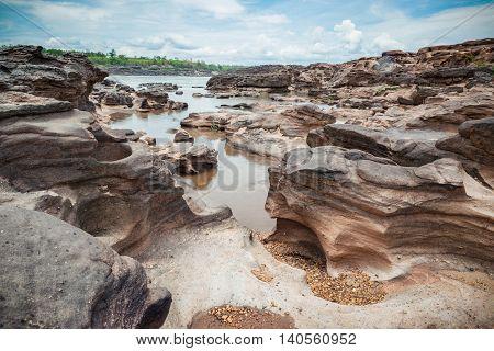 Sampanbok natural stone park of Ubonratchathani Thailand