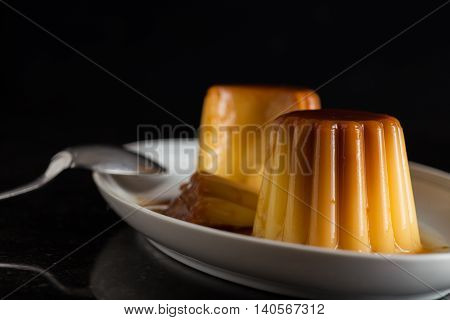 Creme Brulee. Traditional French And Italian Vanilla Cream Dessert With Caramelized Sugar. Delicious