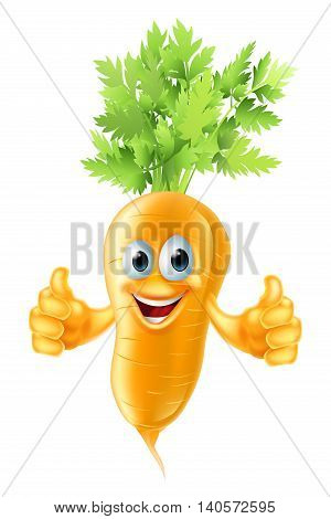 Carrot Mascot Cartoon