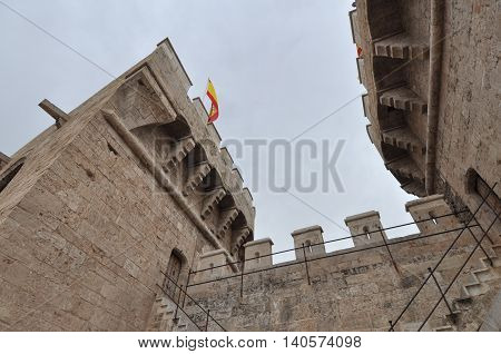 Torres De Quart (meaning Quart Towers) In Valencia