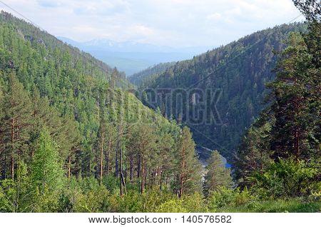 Ikhe-Uhgun River valley in spurs of the East Sayan. Buryatia