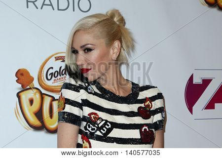 NEW YORK-DEC 12: Singer Gwen Stefani attends Z100's Jingle Ball 2014 at Madison Square Garden on December 12, 2014 in New York City.