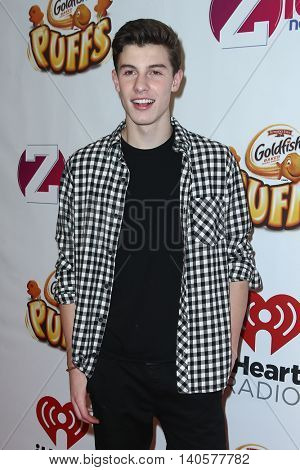 NEW YORK-DEC 12: Singer Shawn Mendes attends Z100's Jingle Ball 2014 at Madison Square Garden on December 12, 2014 in New York City.