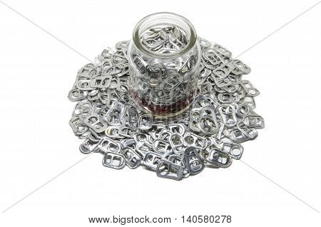 To collect aluminum is good for environment and useful for recycle. (can rings and/or other aluminum products).