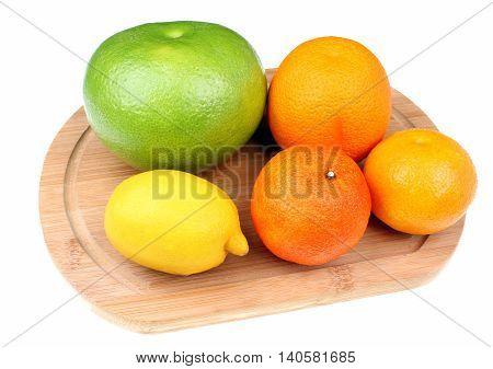 Mix of citrus fruits including lemon orange grapefruit sweetie