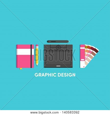 Vector illustrations for designer notebook tablet graphic panton