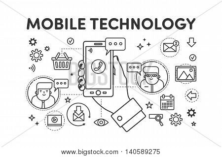 Illustration Mobile Technology