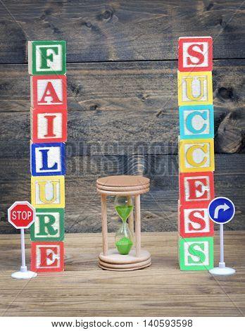 Choice concept Failure or Success