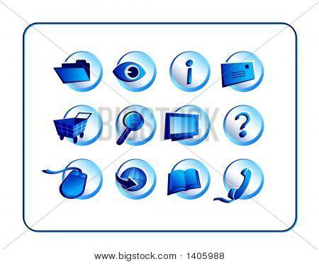Icon Set  - Blue