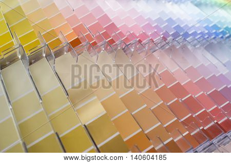 Rows and columns of color swatches for use as background
