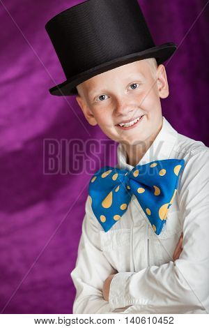 Handsome Dapper Young Boy In A Top Hat
