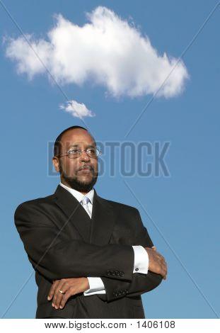 아프리카계 미국인 사업가 깊은 생각 2